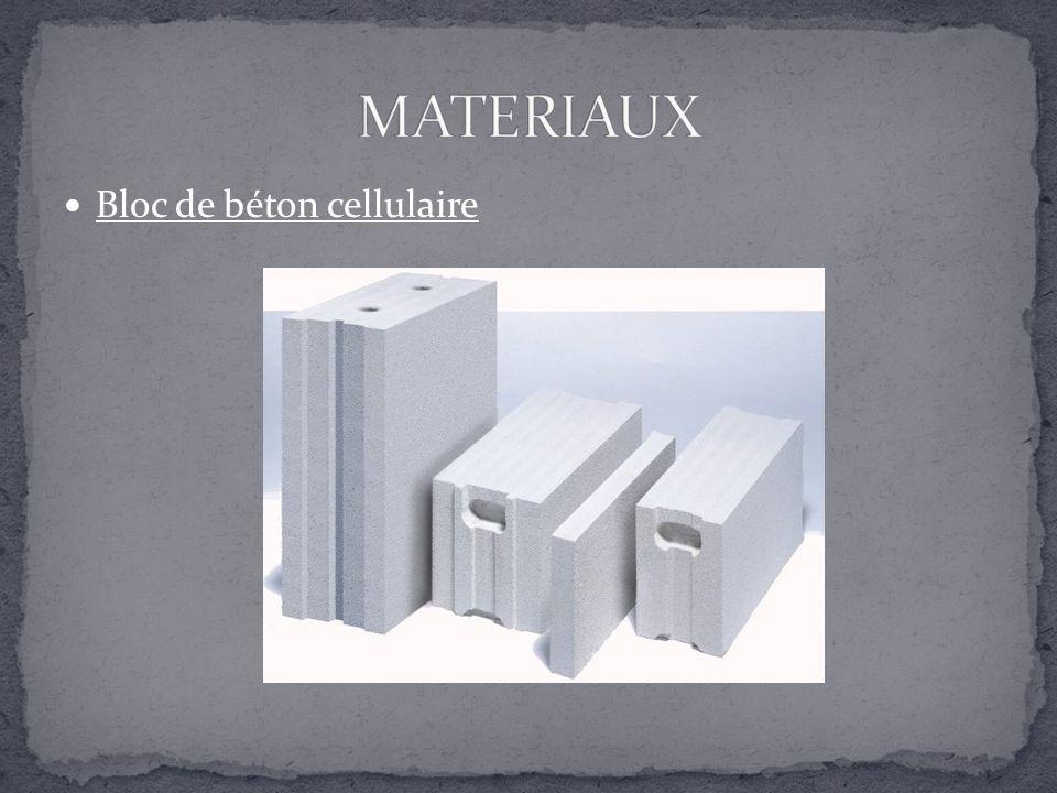 MATERIAUX Bloc de béton cellulaire