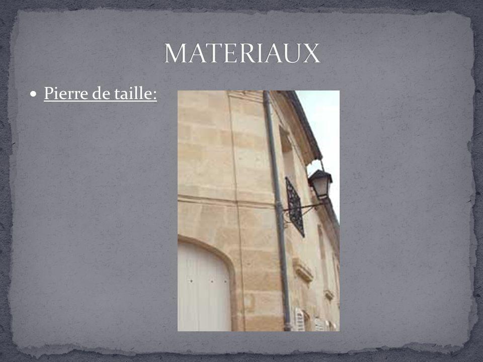 MATERIAUX Pierre de taille: