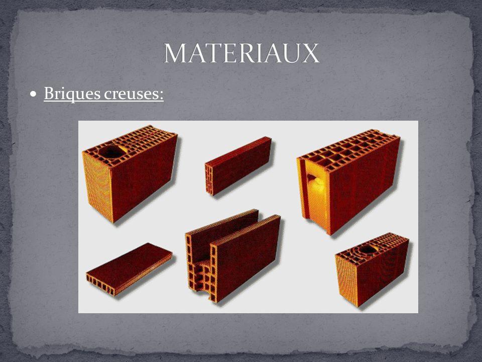 MATERIAUX Briques creuses: