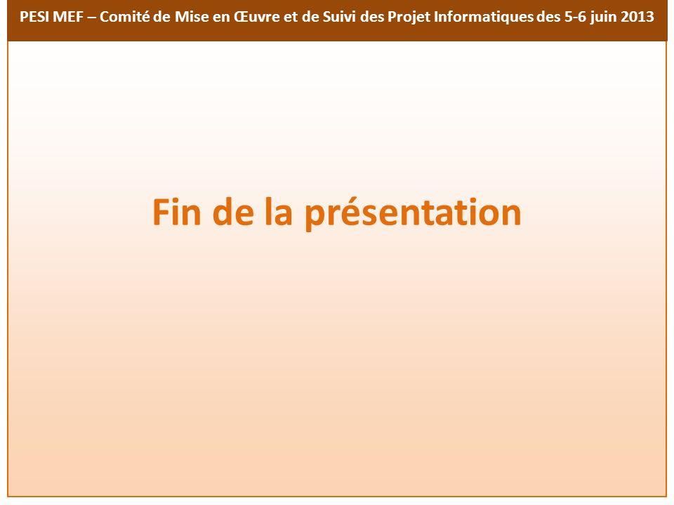 Fin de la présentation 15 15