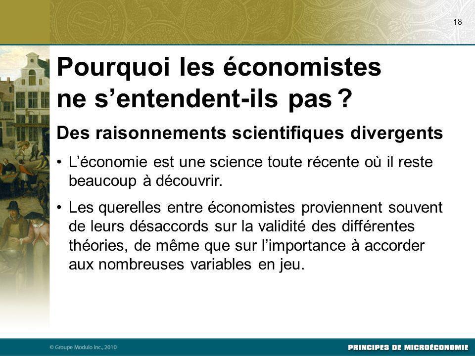 Pourquoi les économistes ne s'entendent-ils pas