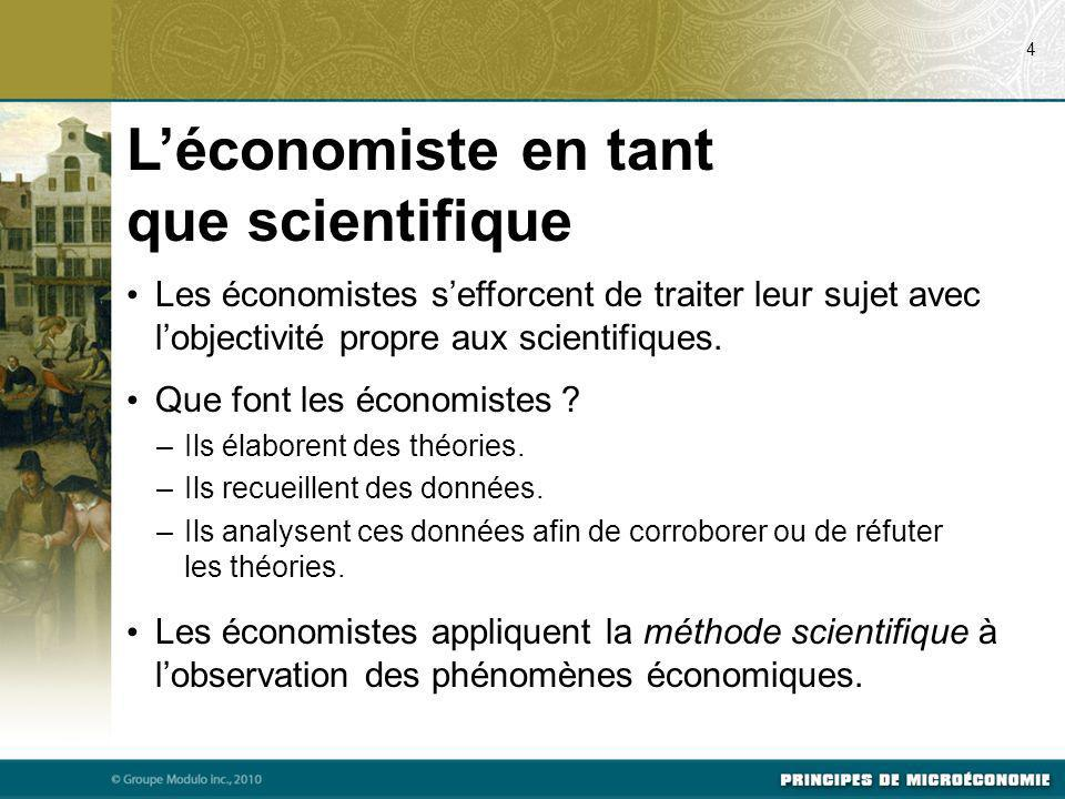 L'économiste en tant que scientifique