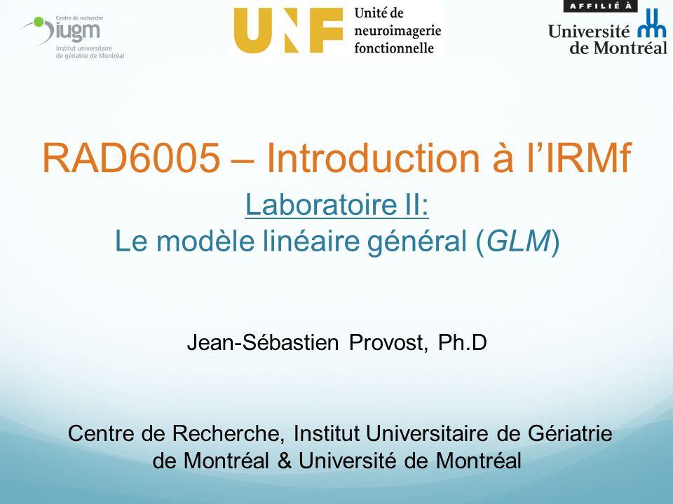 Laboratoire II: Le modèle linéaire général (GLM)