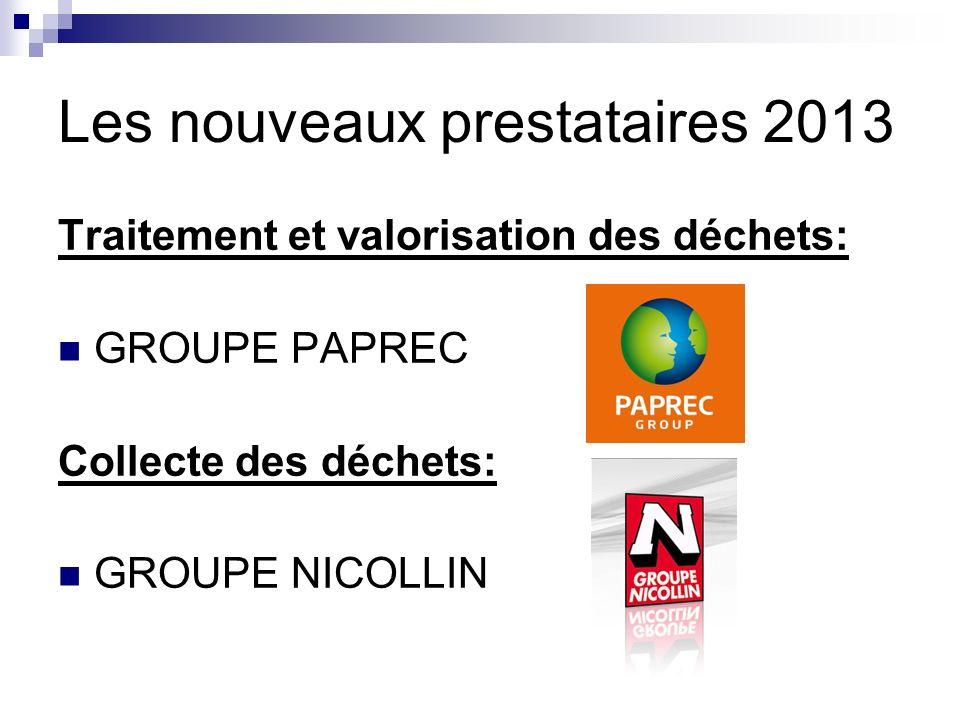 Les nouveaux prestataires 2013