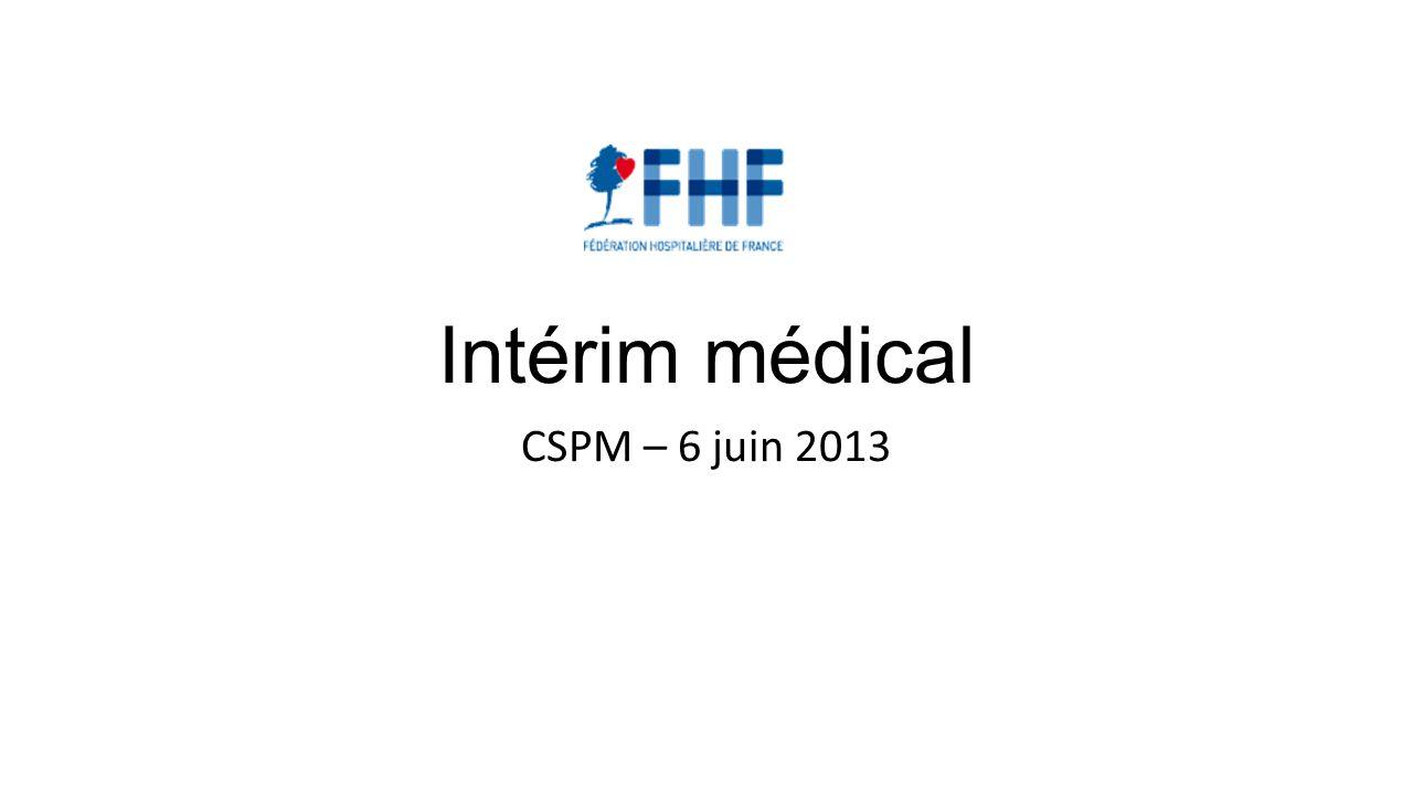 Intérim médical CSPM – 6 juin 2013