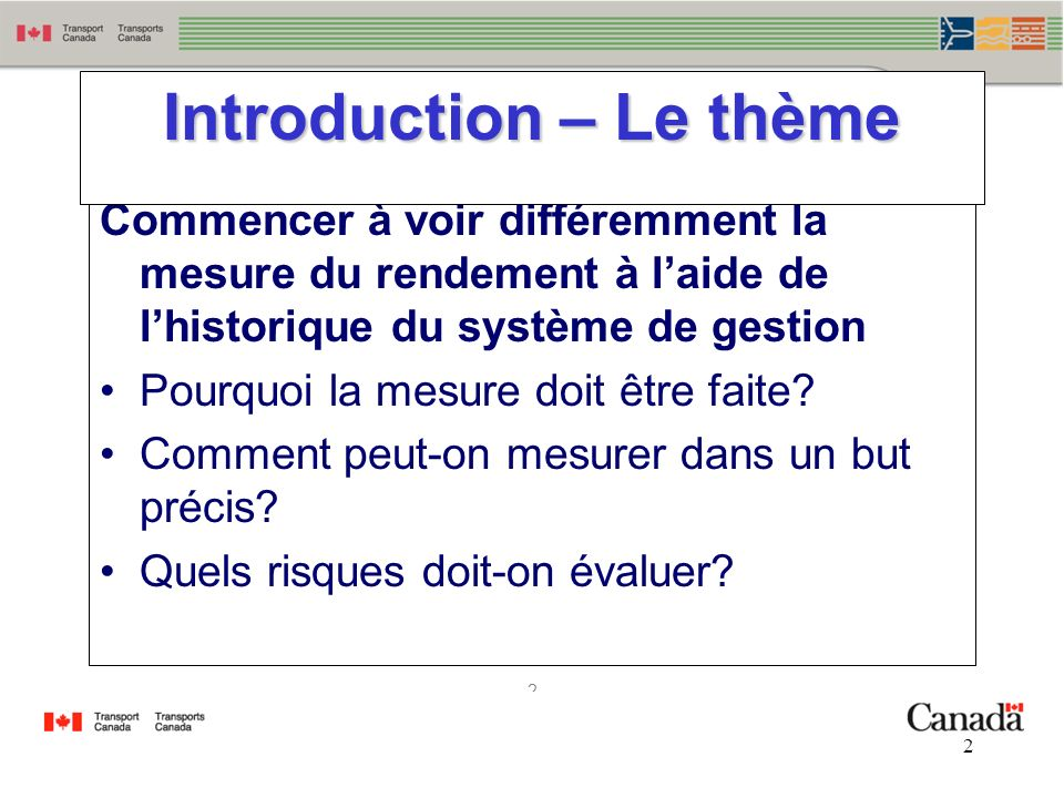 Introduction – Le thème
