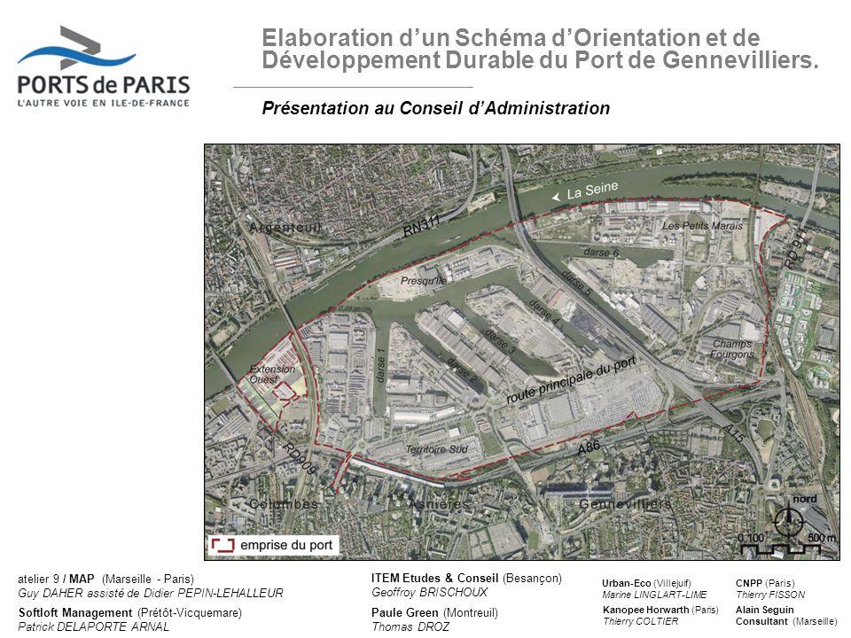 Elaboration d'un Schéma d'Orientation et de Développement Durable du Port de Gennevilliers.