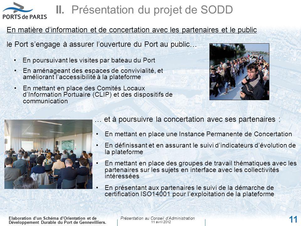 II. Présentation du projet de SODD
