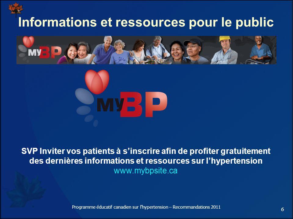 Informations et ressources pour le public