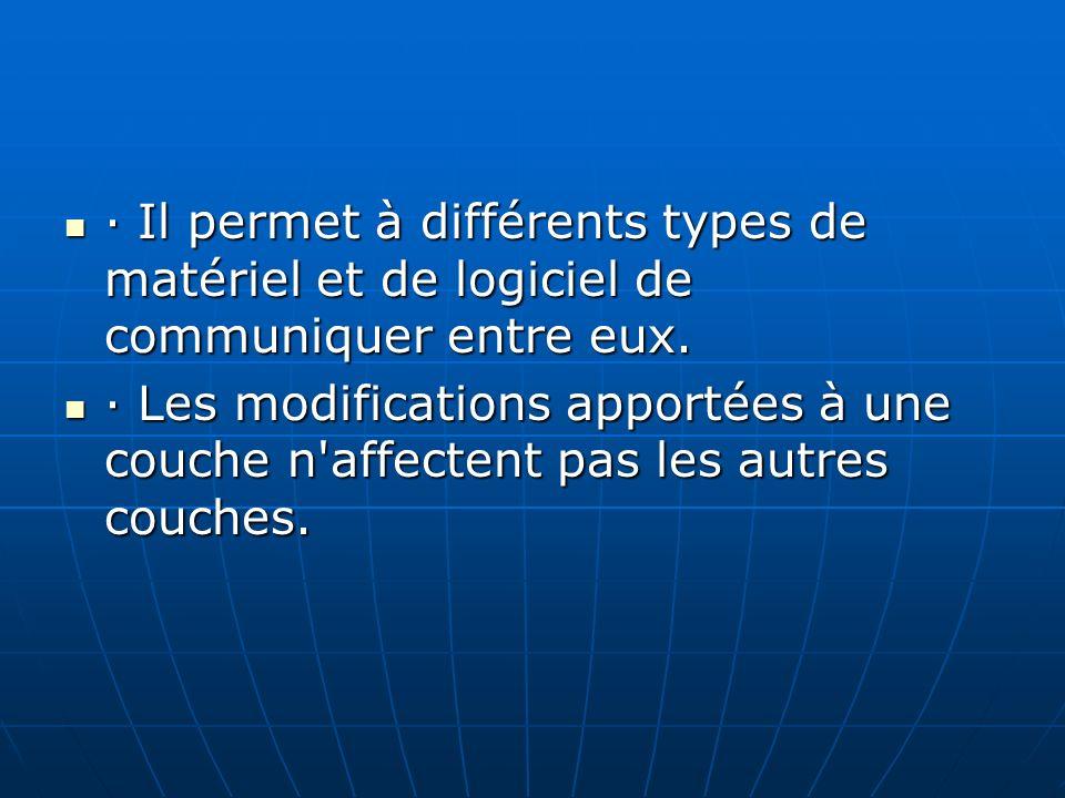 · Il permet à différents types de matériel et de logiciel de communiquer entre eux.