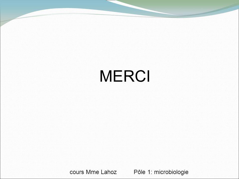 MERCI cours Mme Lahoz Pôle 1: microbiologie