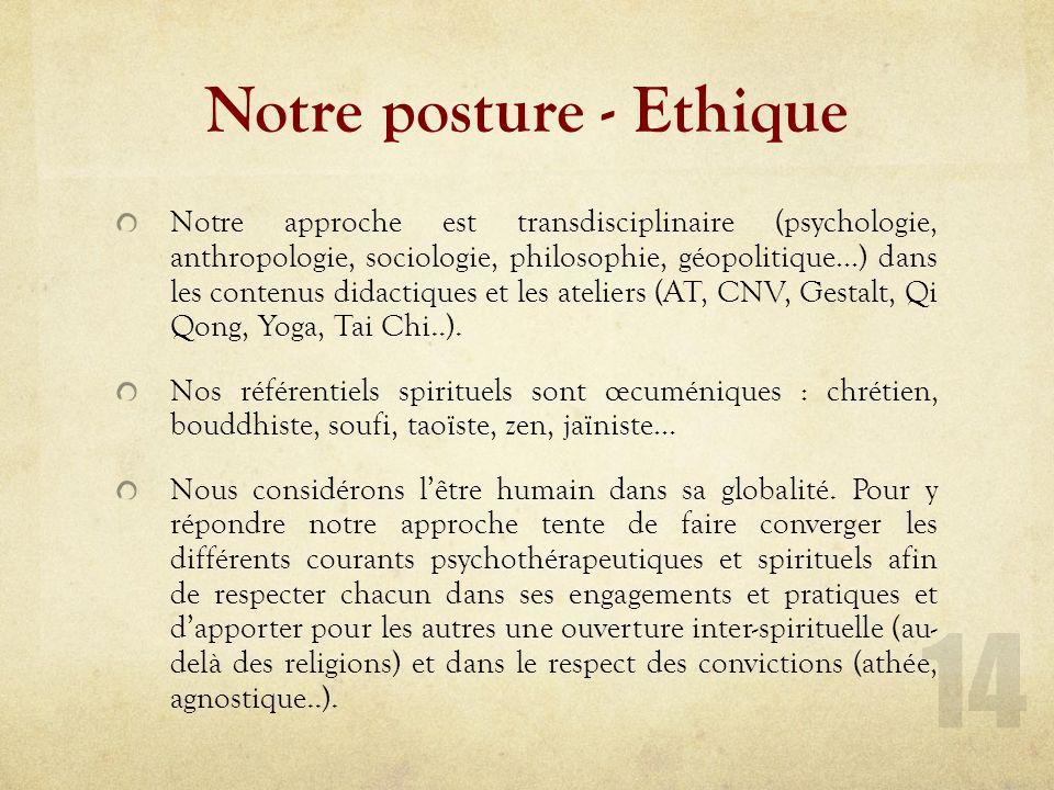Prérequis - Ethique