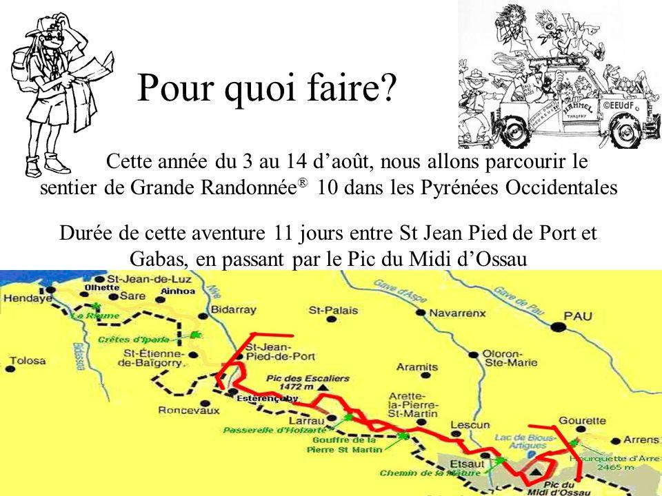 Pour quoi faire Cette année du 3 au 14 d'août, nous allons parcourir le sentier de Grande Randonnée® 10 dans les Pyrénées Occidentales.