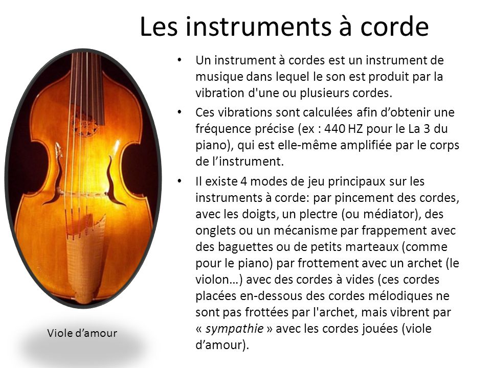 Les instruments à corde