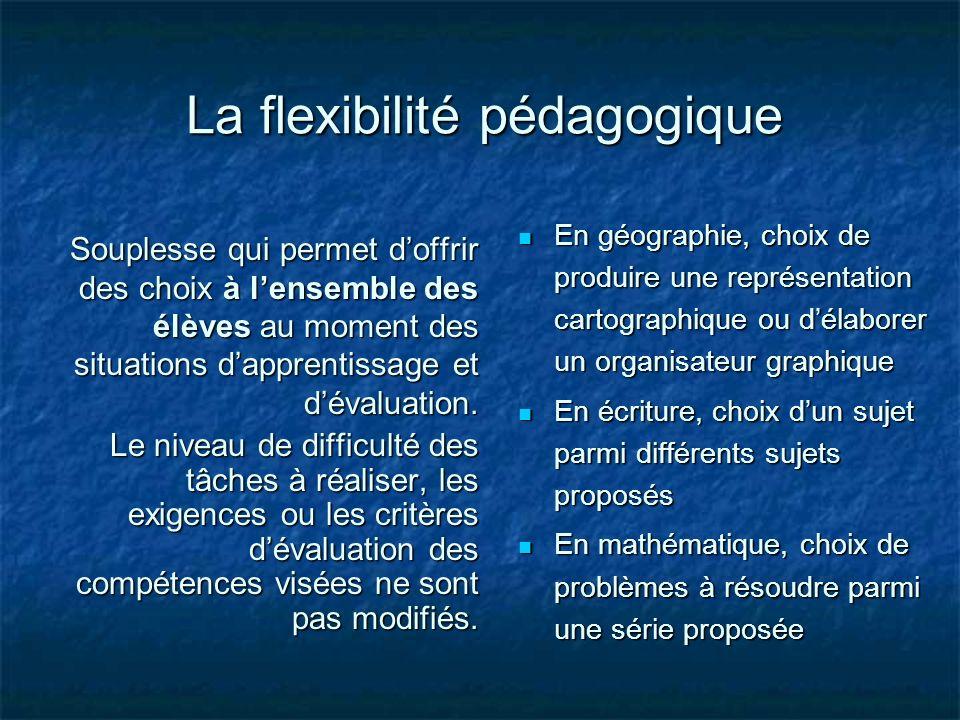 La flexibilité pédagogique
