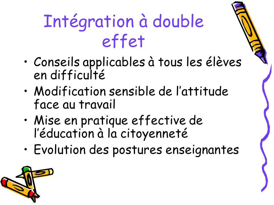 Intégration à double effet