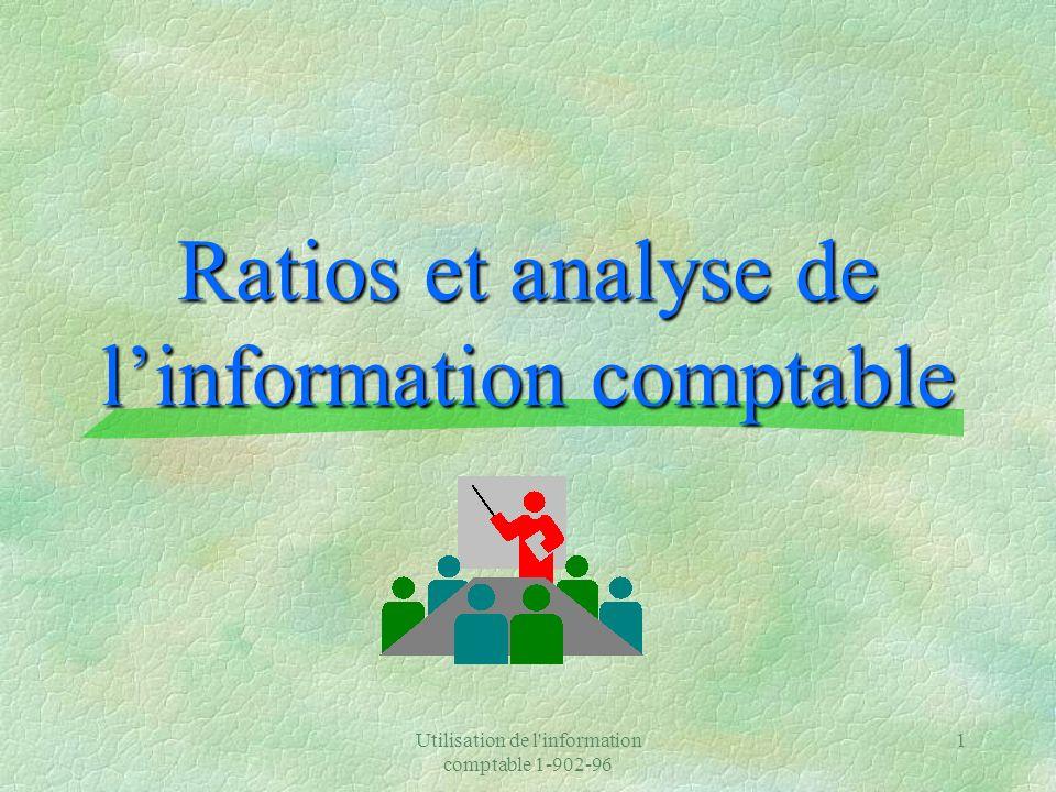 Ratios et analyse de l'information comptable