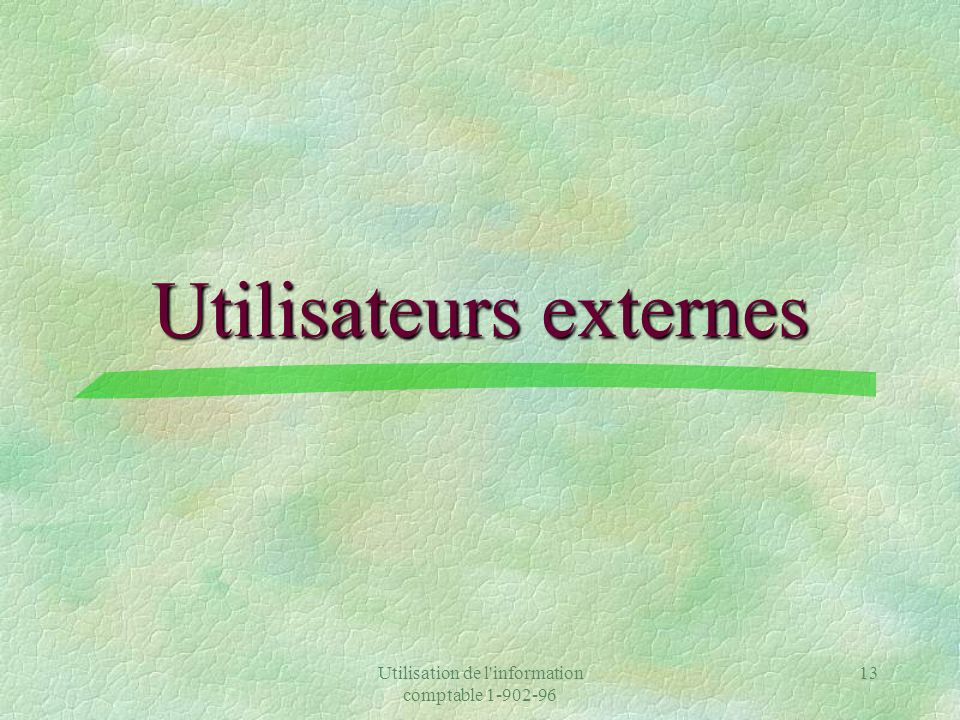 Utilisateurs externes