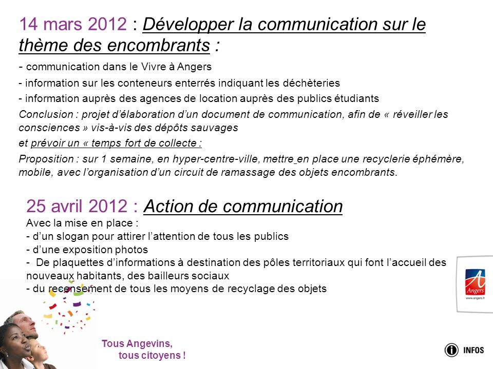 25 avril 2012 : Action de communication