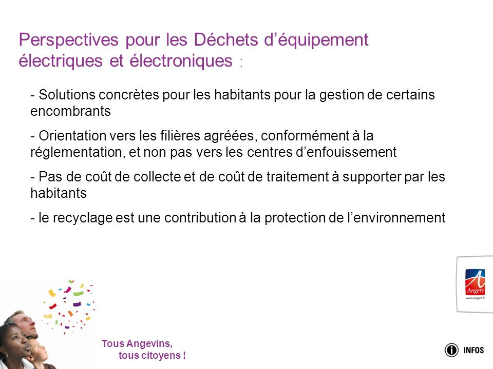 Perspectives pour les Déchets d'équipement électriques et électroniques :