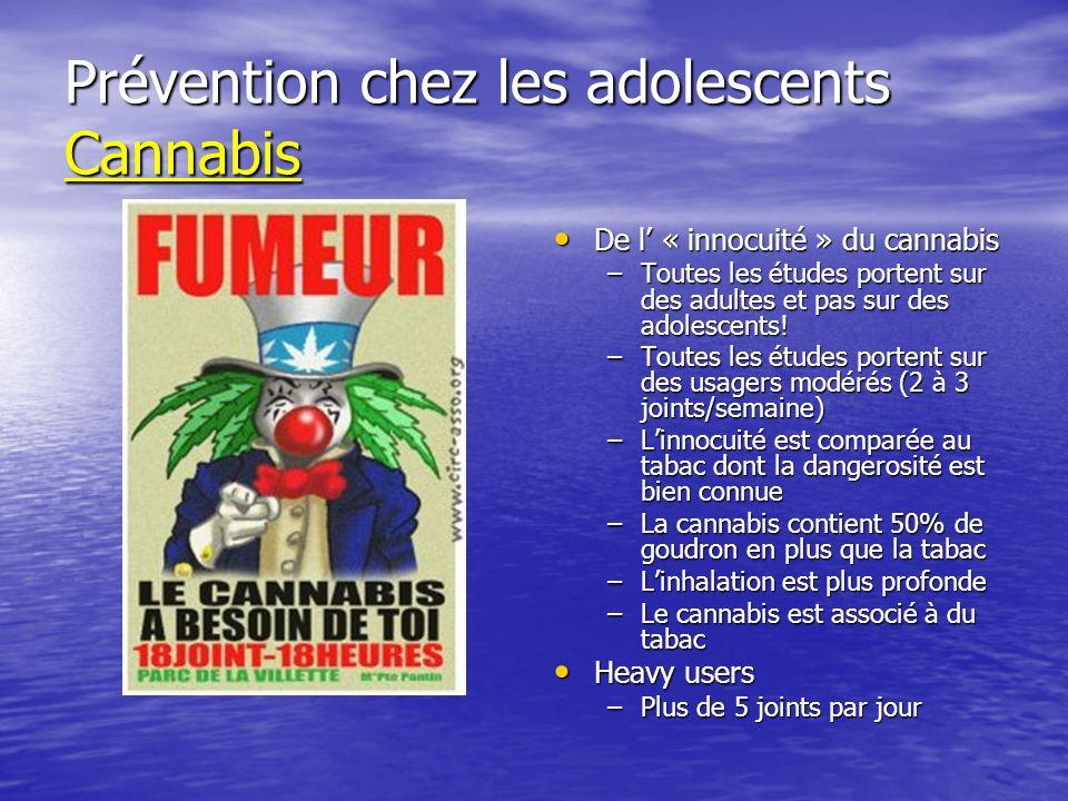Prévention chez les adolescents Cannabis