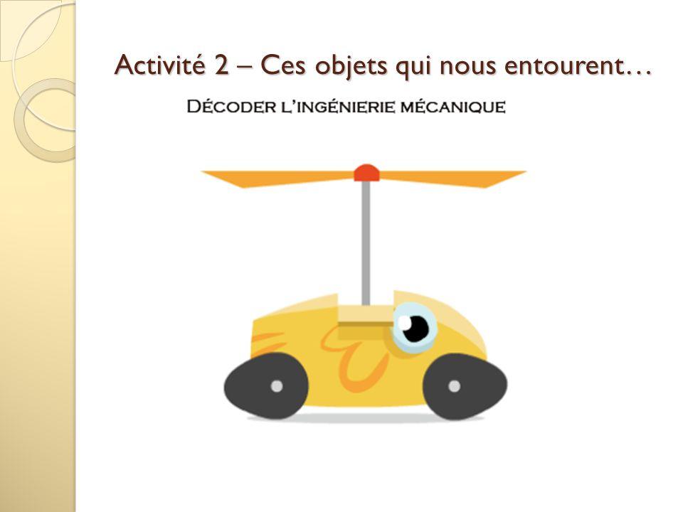 Activité 2 – Ces objets qui nous entourent…
