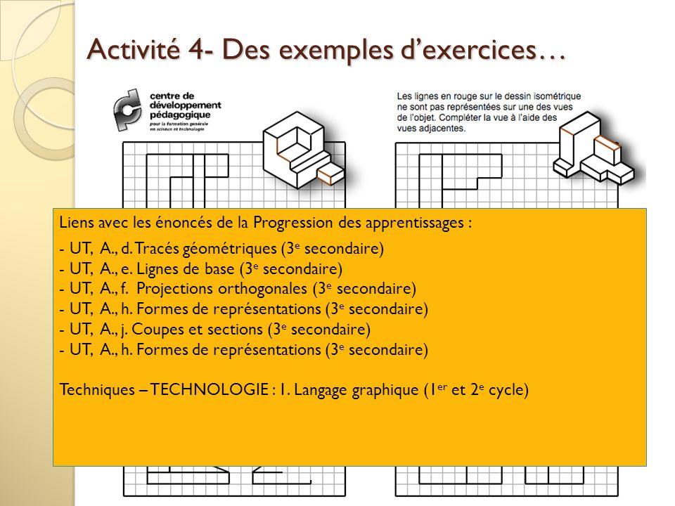 Activité 4- Des exemples d'exercices…