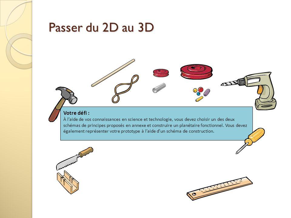 Passer du 2D au 3D Votre défi :