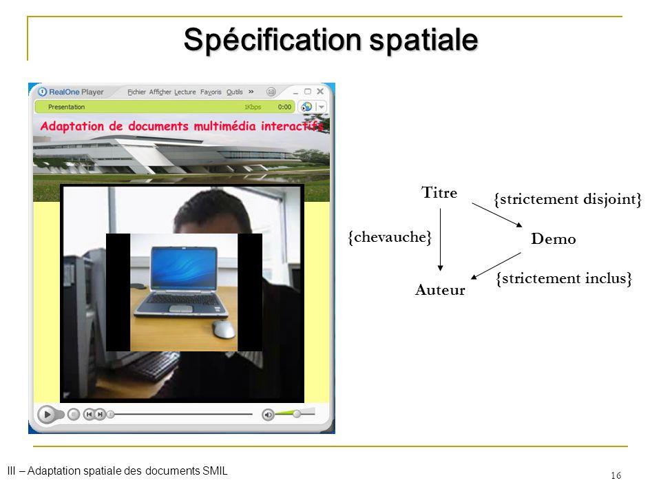 Spécification spatiale