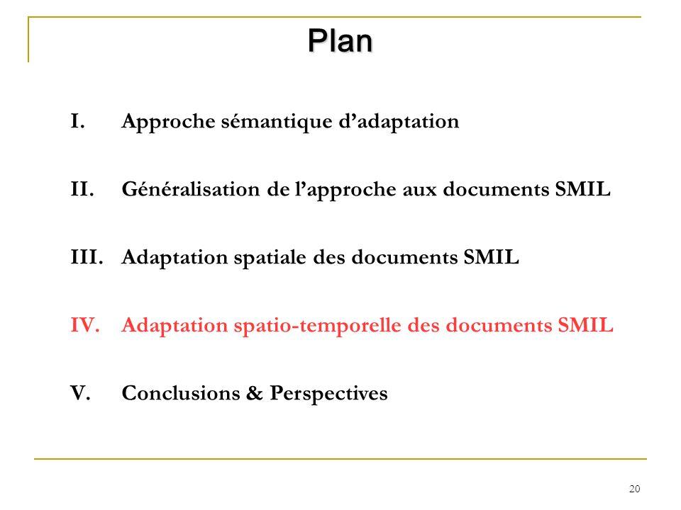 Plan Approche sémantique d'adaptation