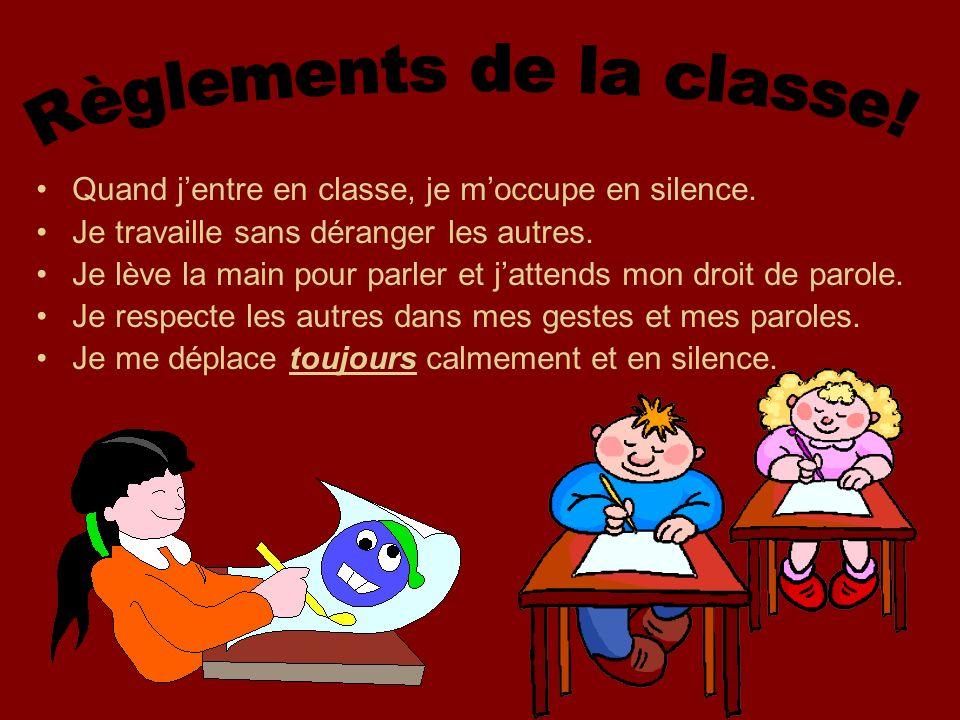 Règlements de la classe!