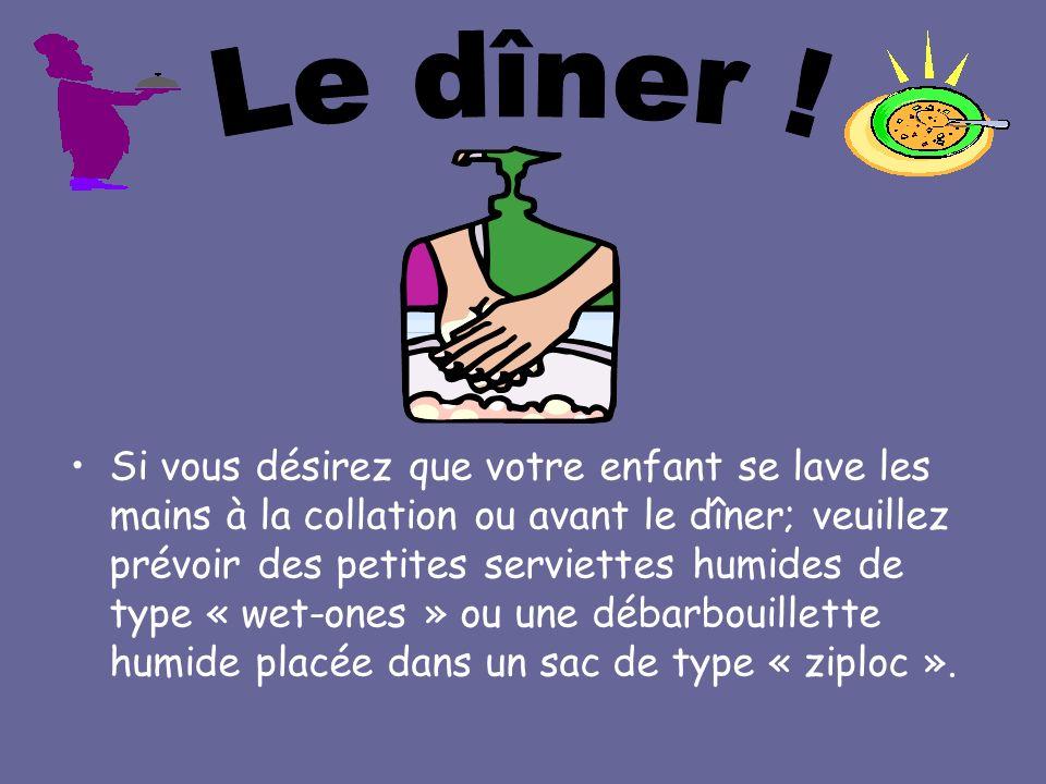 Le dîner !