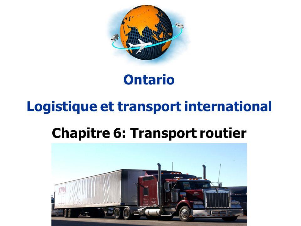 Logistique et transport international Chapitre 6: Transport routier