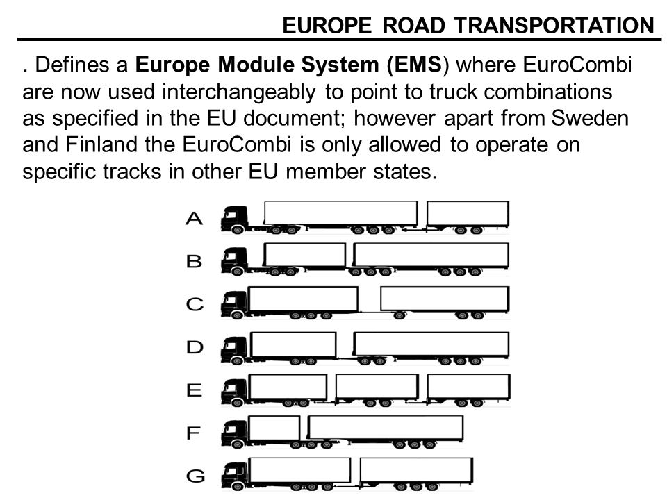 EUROPE ROAD TRANSPORTATION