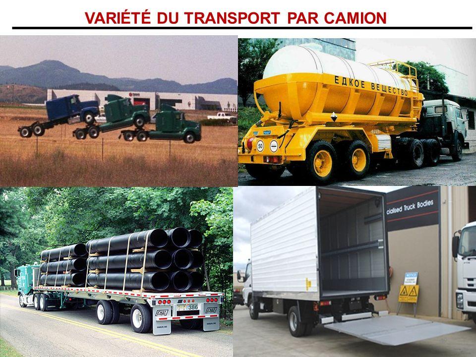 VARIÉTÉ DU TRANSPORT PAR CAMION
