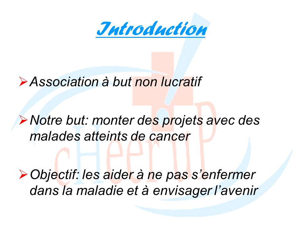Introduction Association à but non lucratif