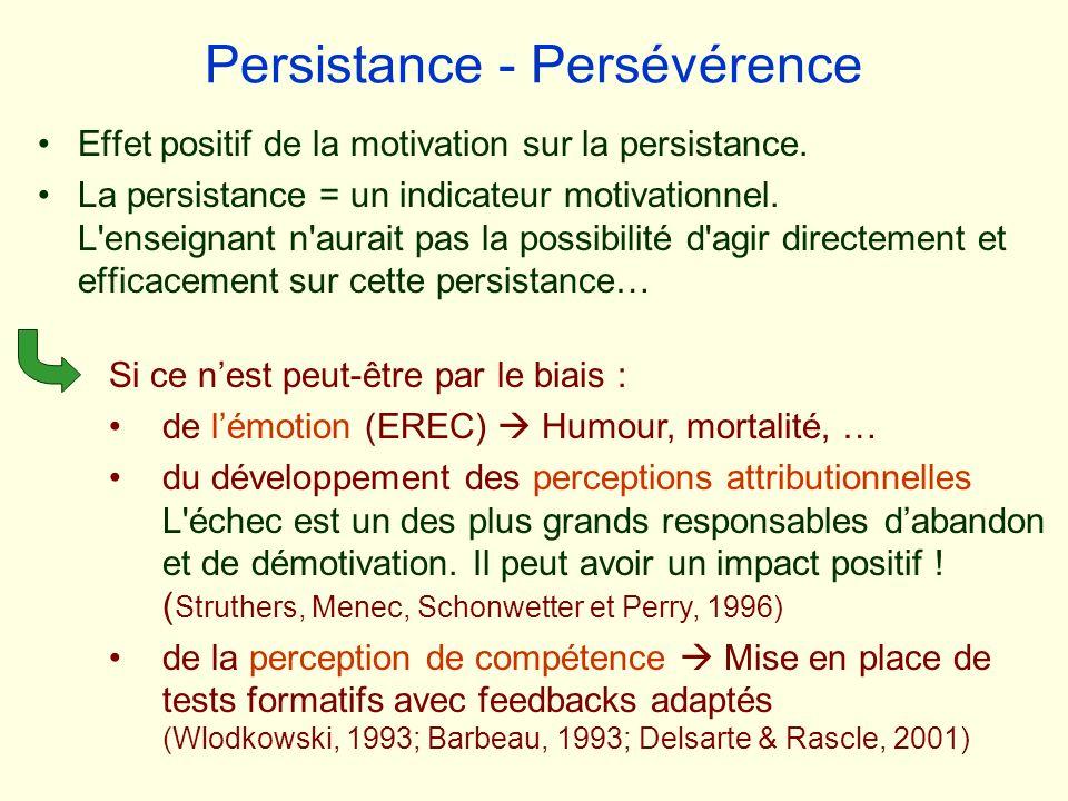 Persistance - Persévérence