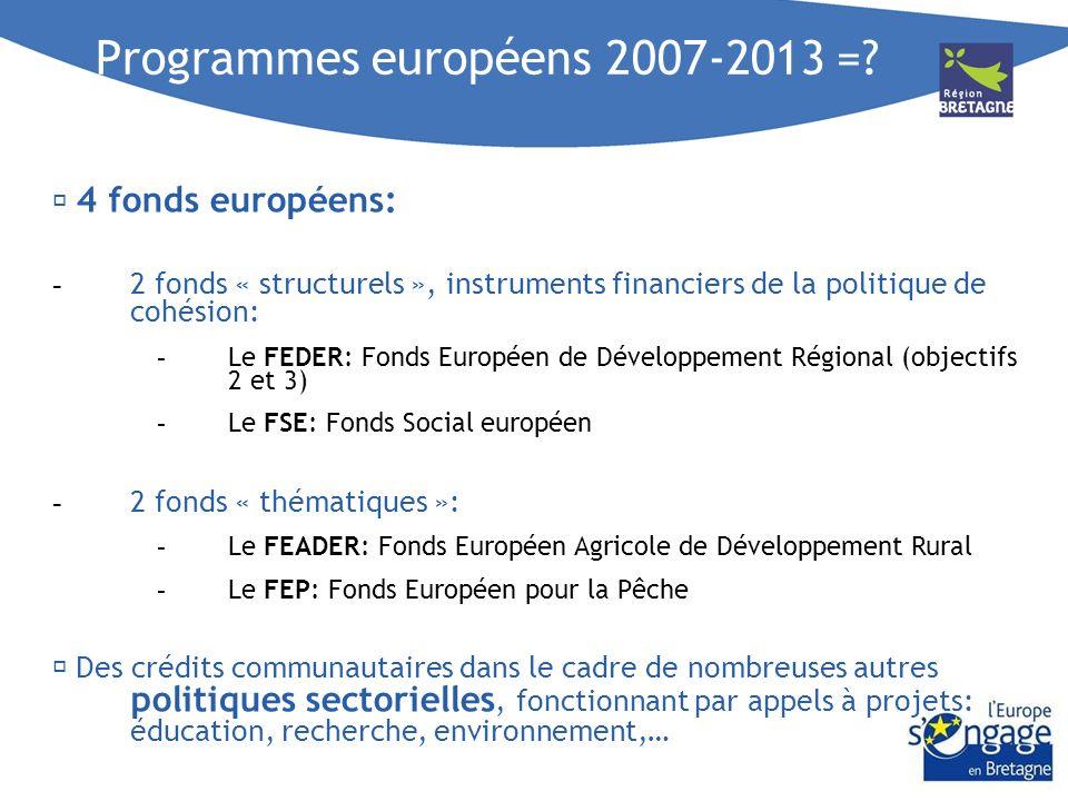 Programmes européens 2007-2013 =