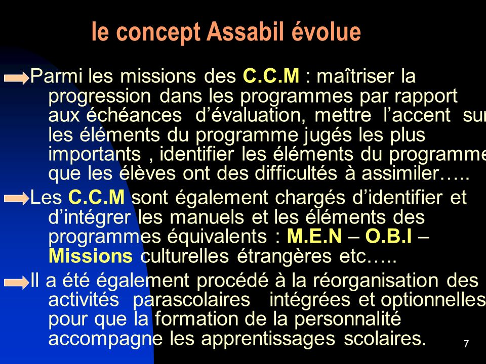 le concept Assabil évolue