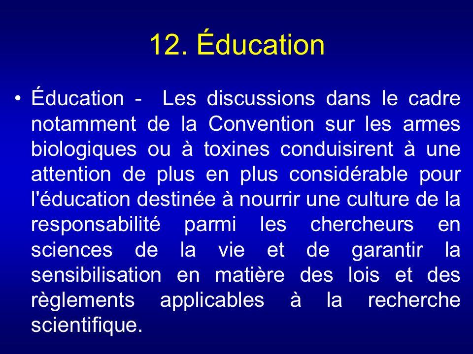 12. Éducation