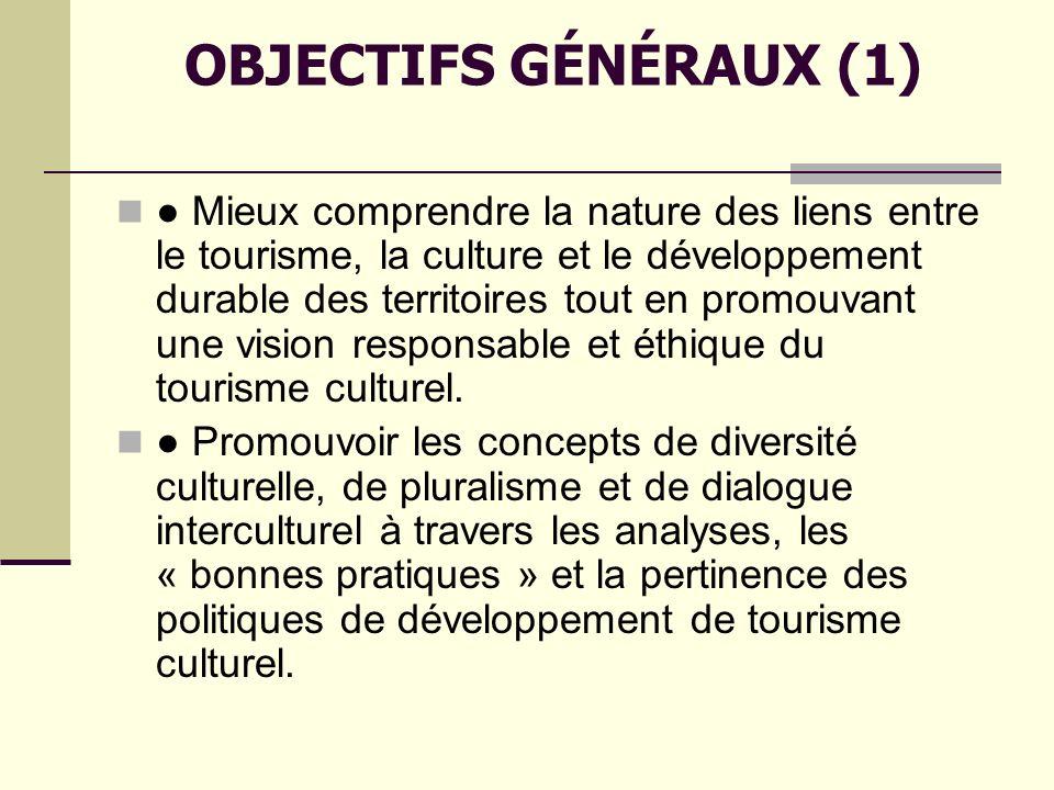 OBJECTIFS GÉNÉRAUX (1)