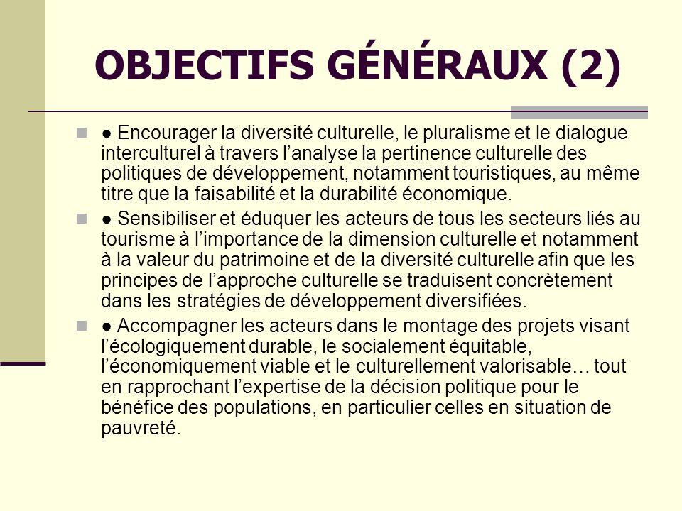 OBJECTIFS GÉNÉRAUX (2)