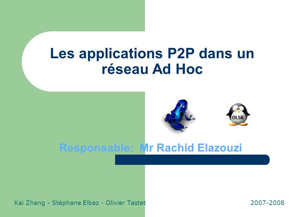 Les applications P2P dans un réseau Ad Hoc