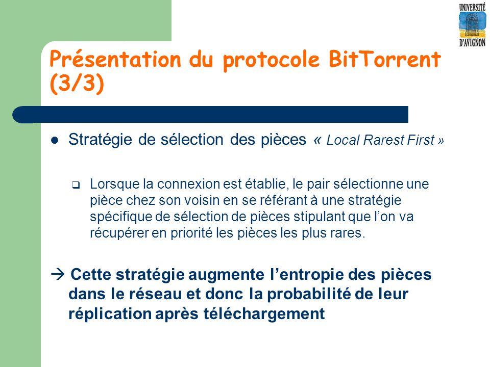 Présentation du protocole BitTorrent (3/3)