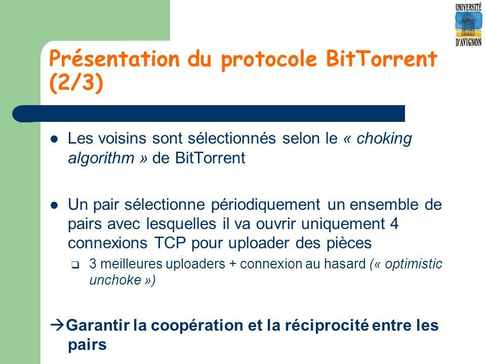 Présentation du protocole BitTorrent (2/3)