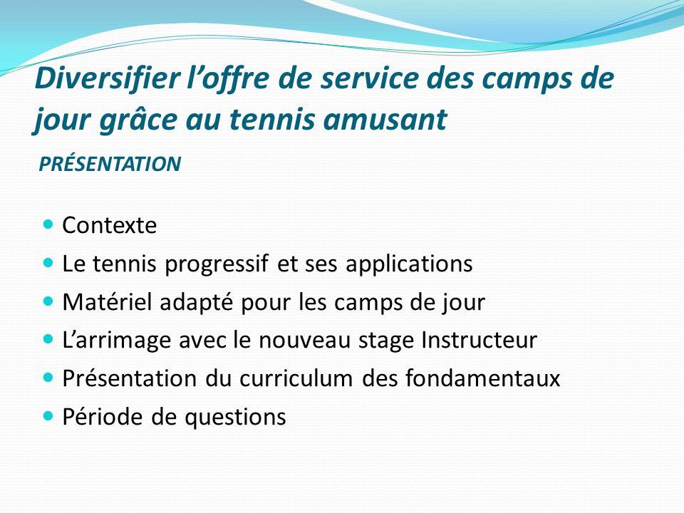 Diversifier l'offre de service des camps de jour grâce au tennis amusant