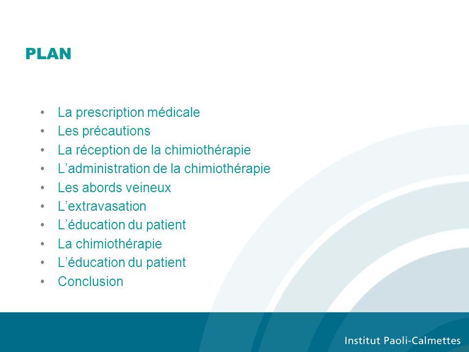 PLAN La prescription médicale Les précautions