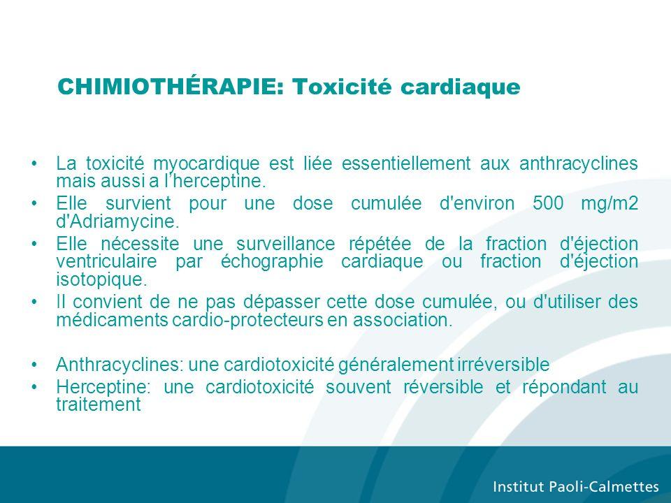 CHIMIOTHÉRAPIE: Toxicité cardiaque