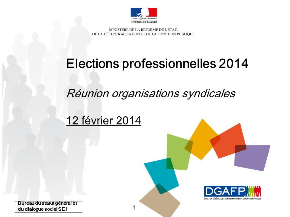 Elections professionnelles 2014 Réunion organisations syndicales 12 février 2014