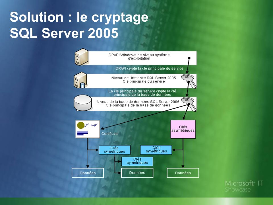 Solution : le cryptage SQL Server 2005